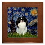 Starry/Japanese Chin Framed Tile