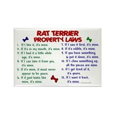 Rat Terrier Property Laws 2 Rectangle Magnet (100