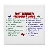 Rat Terrier Property Laws 2 Tile Coaster