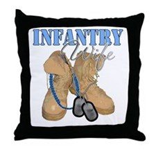 Infantry Wife Desert Boots Throw Pillow