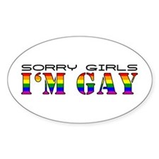 I'm Gay Oval Decal