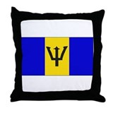 Barbados Blank Flag Throw Pillow