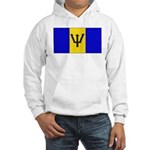 Barbados Blank Flag Hooded Sweatshirt