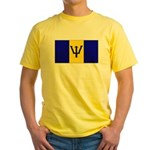 Barbados Blank Flag Yellow T-Shirt