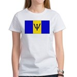 Barbados Blank Flag Women's T-Shirt