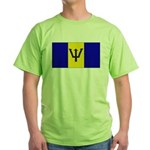 Barbados Blank Flag Green T-Shirt