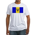 Barbados Blank Flag Fitted T-Shirt