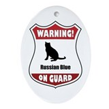 Blue On Guard Oval Ornament