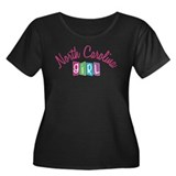 NORTH CAROLINA GIRL! Women's Plus Size Scoop Neck