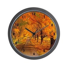 Autumn Wall Clock