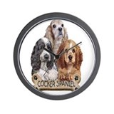 Cocker Spaniel Wall Clock