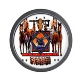 Native American Horses Wall Clock