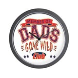 Dad's Gone Wild Club Wall Clock