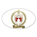 GERVAIS Family Crest Oval Sticker
