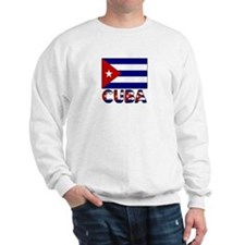 Cuba Word and Flag Sweatshirt