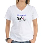I LOVE MY DAD Women's V-Neck T-Shirt