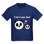 I LOVE MY DAD Kids Dark T-Shirt