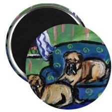 "BULL MASTIFF sofa Design 2.25"" Magnet (100 pack)"