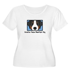 Anime Greater Swiss Mountain Dog Women's Plus Tee