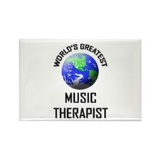 World's Greatest MUSIC THERAPIST Rectangle Magnet