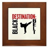 Destination Black Belt Framed Tile