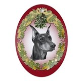 Doberman Pinscher Christmas Oval Ornament