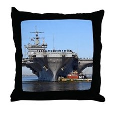 USS Enterprise CVN65 Throw Pillow
