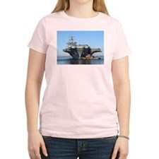 USS Enterprise CVN65 Women's Pink T-Shirt
