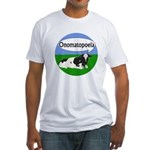 Onomatopoeia Cow Fitted T-Shirt
