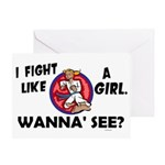 Fight Like A Girl 3 Greeting Card
