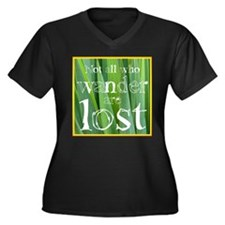 All who wander are not lost Women's Plus Size V-Ne