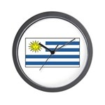 Uruguay Blank Flag Wall Clock