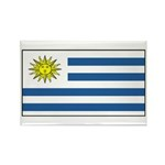 Uruguay Blank Flag Rectangle Magnet (100 pack)