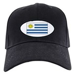 Uruguay Blank Flag Black Cap
