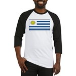 Uruguay Blank Flag Baseball Jersey