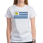 Uruguay Blank Flag Women's T-Shirt