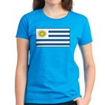 Uruguay Blank Flag Women's Dark T-Shirt