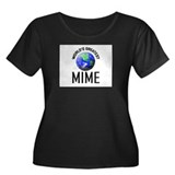 World's Greatest MIME Women's Plus Size Scoop Neck