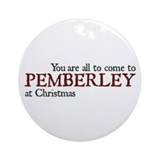 Jane Austen Christmas Pemberley Ornament (Round)