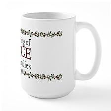 Jane Austen Christmas Peace Mug
