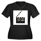 Shoot film, not guns Women's Plus Size V-Neck Dark