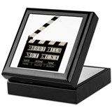 Shoot film, not guns Keepsake Box