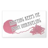 Knitting Keeps me from unraveling Decal