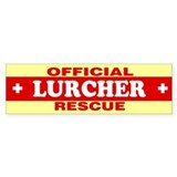 LURCHER Bumper Car Sticker