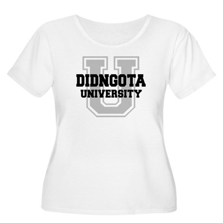DIDNGOTA University Women's Plus Size Scoop Neck T