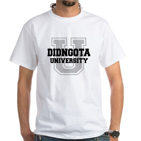 DIDNGOTA University White T-Shirt