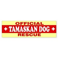 TAMASKAN DOG Bumper Bumper Sticker