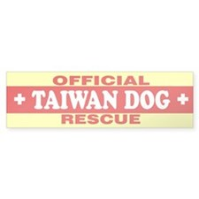TAIWAN DOG Bumper Bumper Stickers