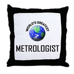 World's Greatest METAPSYCHOLOGIST Throw Pillow