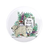 "Westie Christmas Terrier 3.5"" Button"